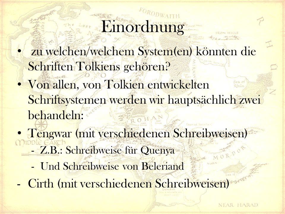 Einordnung zu welchen/welchem System(en) könnten die Schriften Tolkiens gehören.