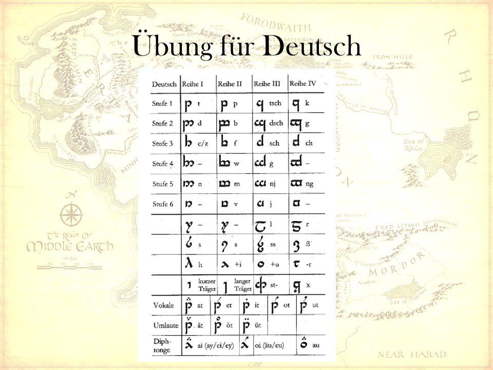 Übung für Deutsch