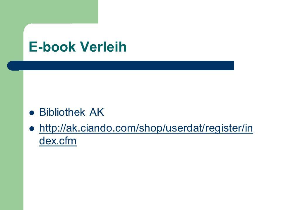 E-book Verleih Bibliothek AK http://ak.ciando.com/shop/userdat/register/in dex.cfm http://ak.ciando.com/shop/userdat/register/in dex.cfm