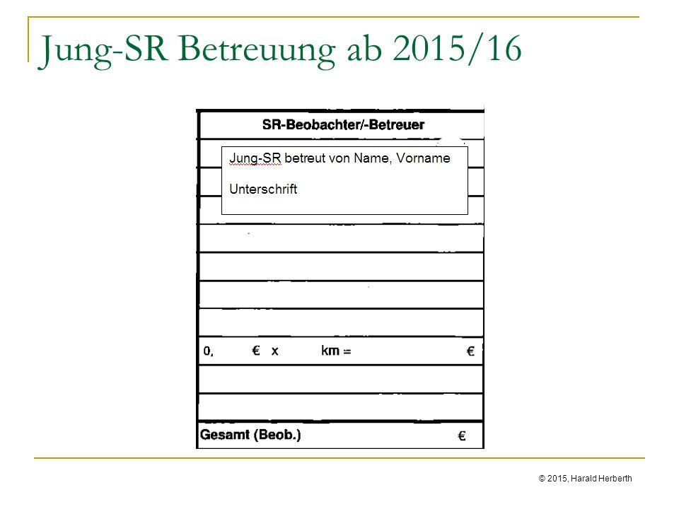 © 2015, Harald Herberth Jung-SR Betreuung ab 2015/16