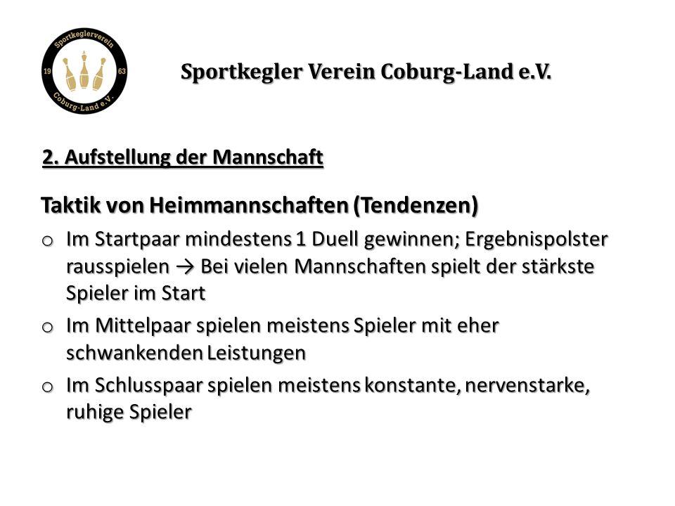 Aufstellung von Barbaras exemplarischer Heimmannschaft: Sportkegler Verein Coburg-Land e.V.