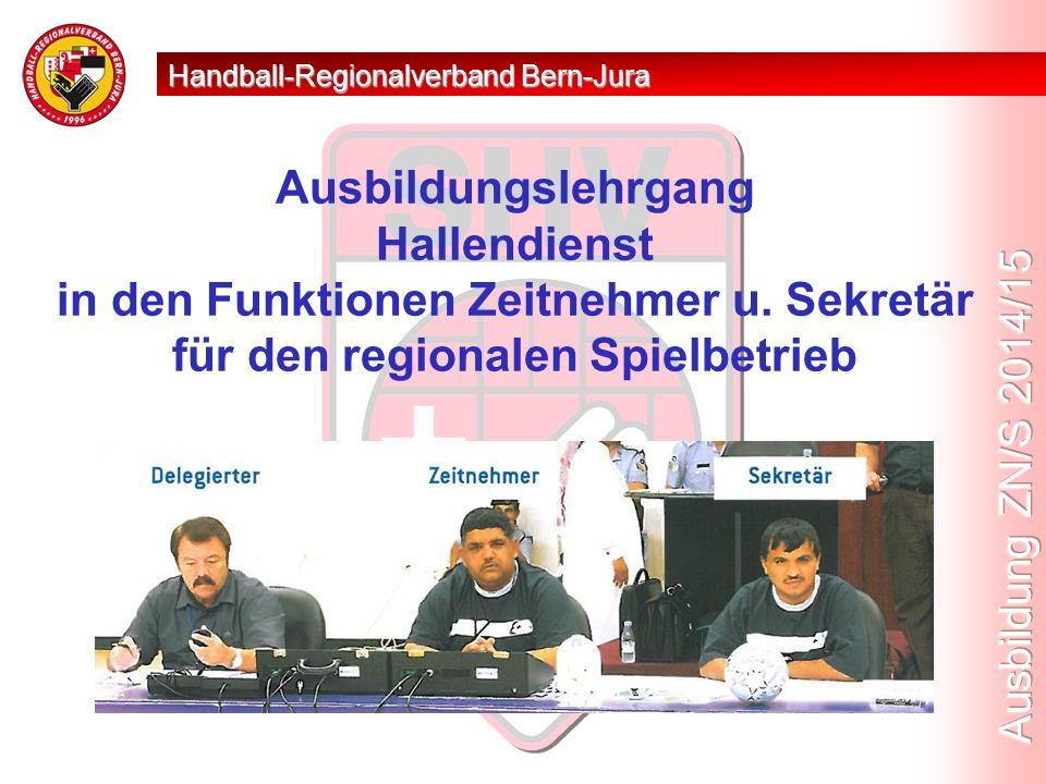 Ausbildungslehrgang Hallendienst in den Funktionen Zeitnehmer u.