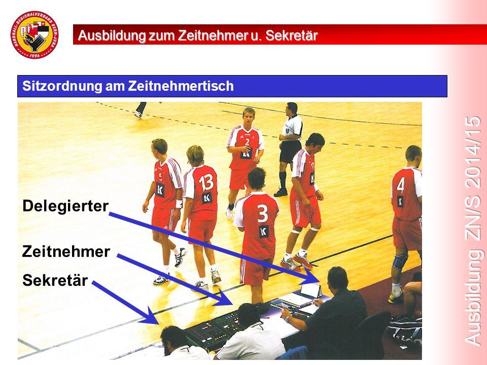 Aufgaben vor dem Spiel Vor dem Spiel fallen dem Zeitnehmer folgende Aufgaben zu:  Überprüfung der offiziellen Spielzeituhr, die Möglichkeit des Anzeigens von Hinausstellungen, die Reserveuhren und die Funktion des automatischen Schlusssignals.