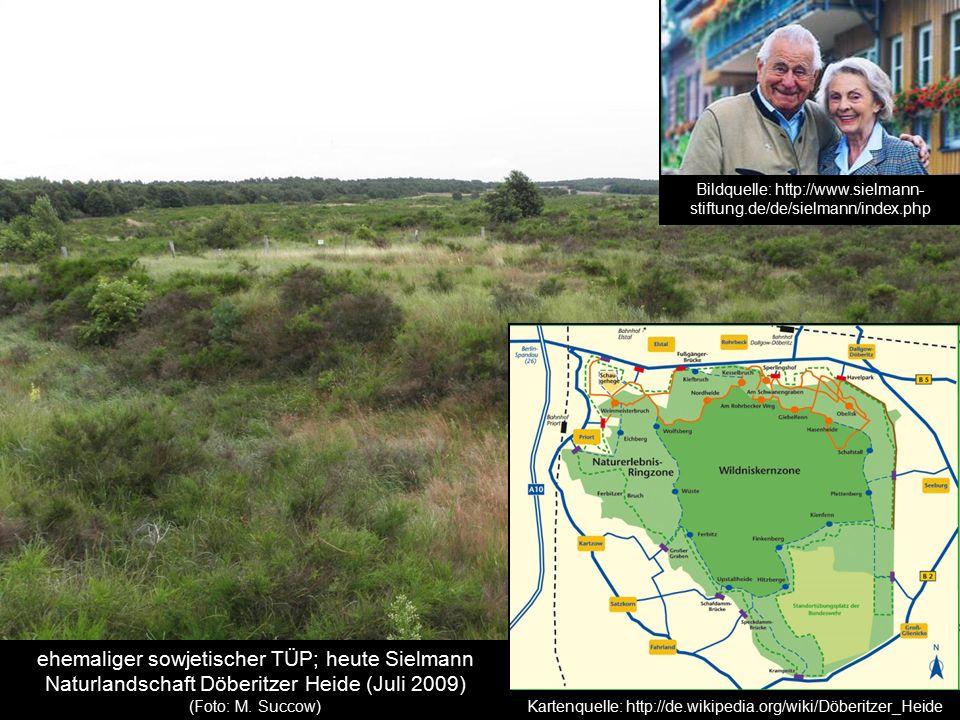 ehemaliger sowjetischer TÜP; heute Sielmann Naturlandschaft Döberitzer Heide (Juli 2009) (Foto: M. Succow) Kartenquelle: http://de.wikipedia.org/wiki/