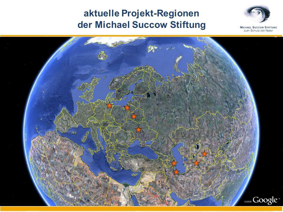 aktuelle Projekt-Regionen der Michael Succow Stiftung
