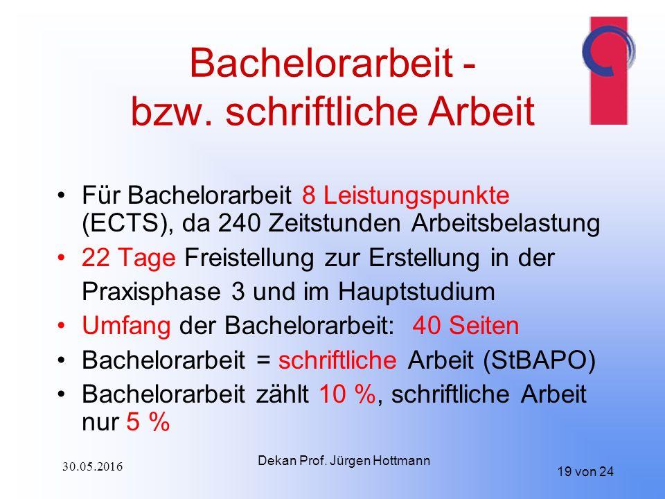 19 von 24 Bachelorarbeit - bzw.