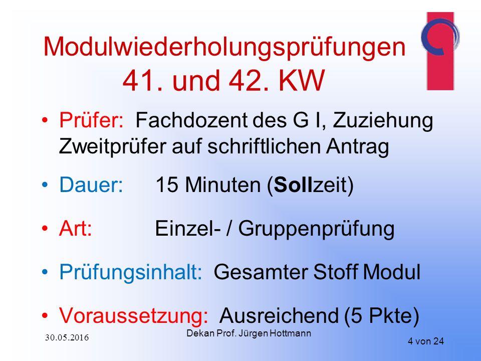 Modulwiederholungsprüfungen 41. und 42.