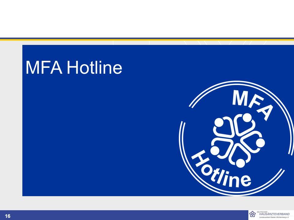 16 MFA Hotline