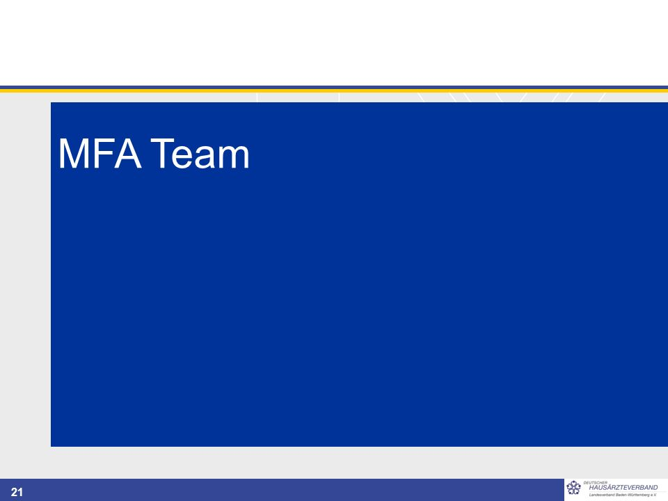 21 MFA Team