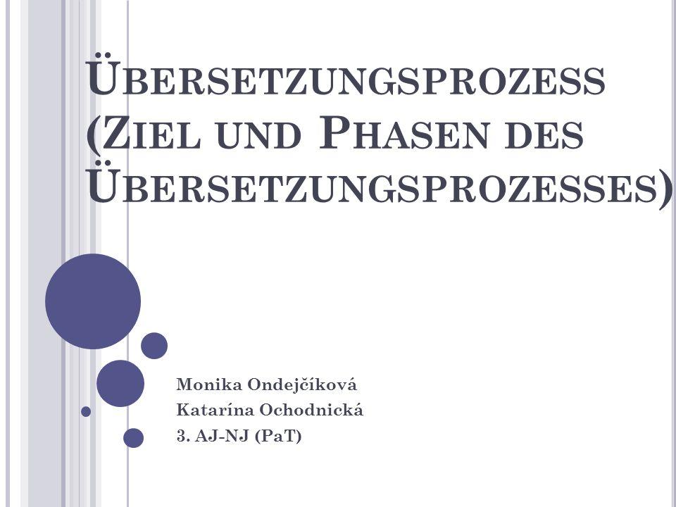 Nach Auffassung von Reiss und Vermeer macht der Translator (im Auftrag des Initiators) den Zieltextrezipienten ein Informationsangebot über das Informationsangebot des AT.