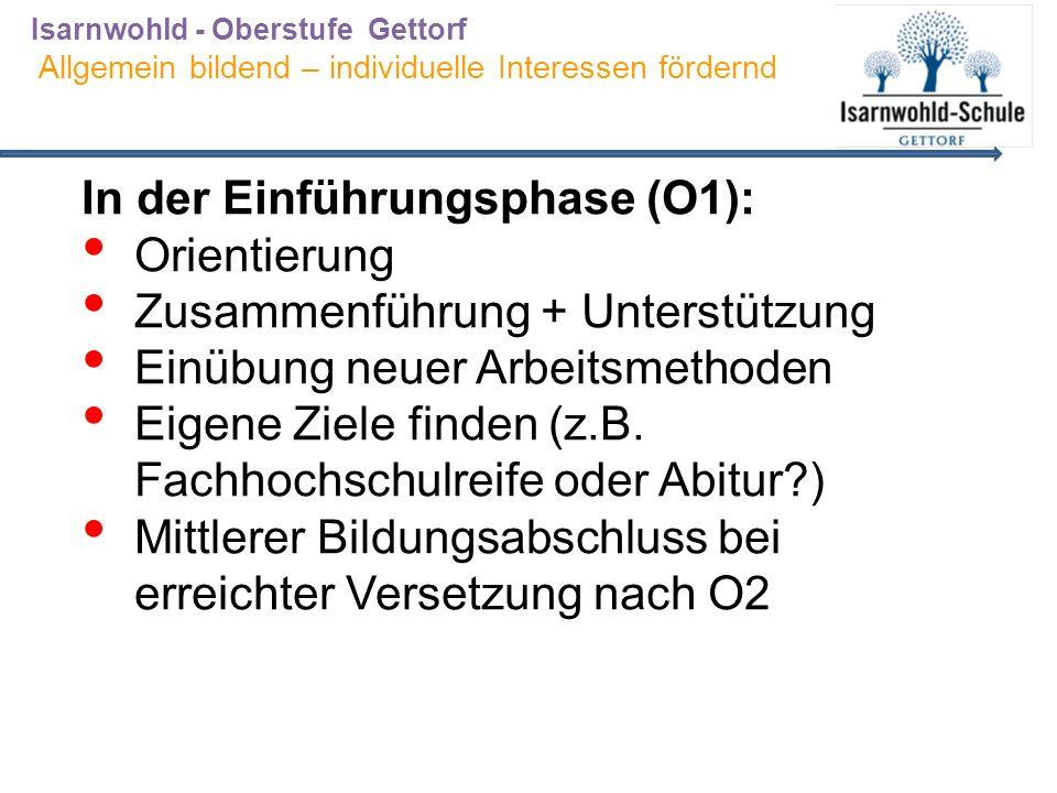 Stundentafel – Naturwissenschaftliches Profil Einführungsphase (O1) Qualifikationsphase (O2) (O3) 1.Aufgabenfeld: Sprachlich- literarisch- künstlerisch Deutsch Kf344 En**/La**/Fr** Kf344 En**/La**/ Frz**/Spa**(neu) 3 (+1) (+4) Kunst/ Musik / 22 D Sp** 2.Aufgabenfeld: gesellschafts- wissenschaftlich Geschichte222 WiPo222 Erdkunde2-2 Philosophie**22 Religion** 3.Aufgabenfeld: naturwissenschaftlich Mathematik Kf344 Bio/Physik PF344 Bio/Physik PeF33+1 Chemie PeF333 Sport**222 zusätzlichP4 Sporttheorie**122 Stunden33 (+1 +1)33 (+4+2)31 (+4+2)