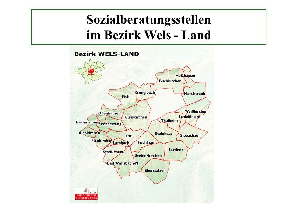 Sozialberatungsstellen im Bezirk Wels - Land
