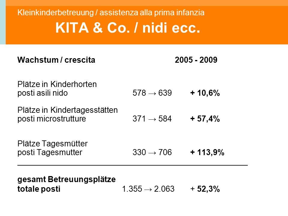 Kleinkinderbetreuung / assistenza alla prima infanzia KITA & Co.