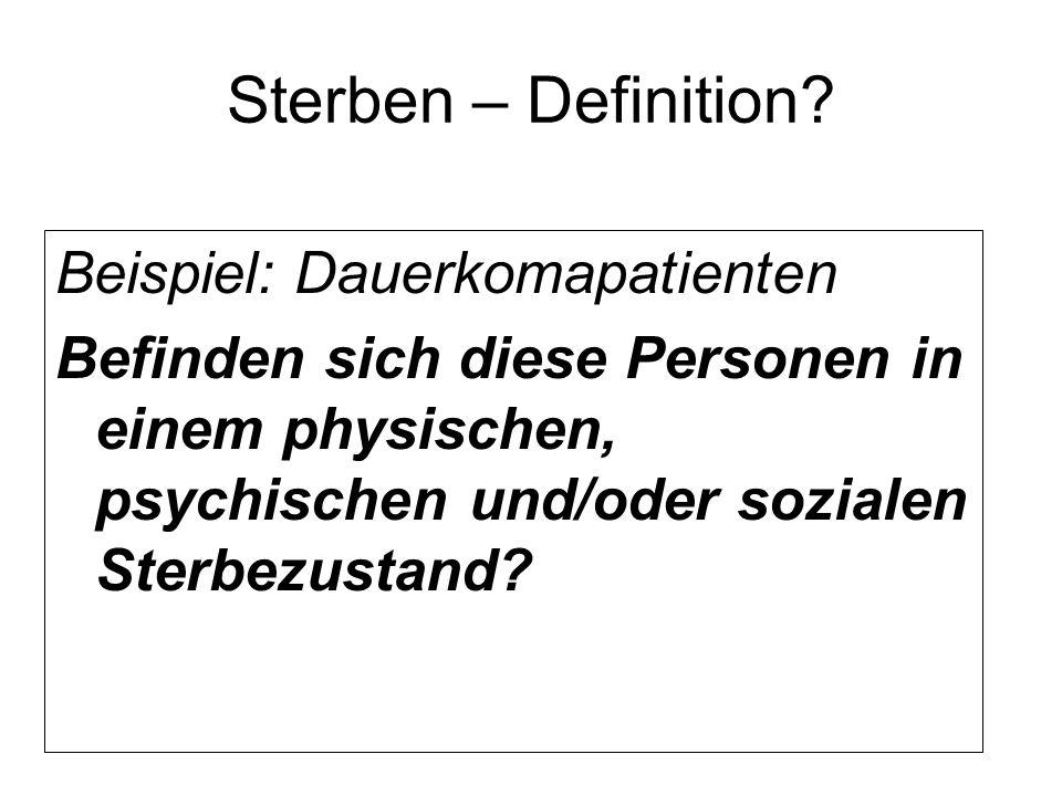 Sterben – Definition.