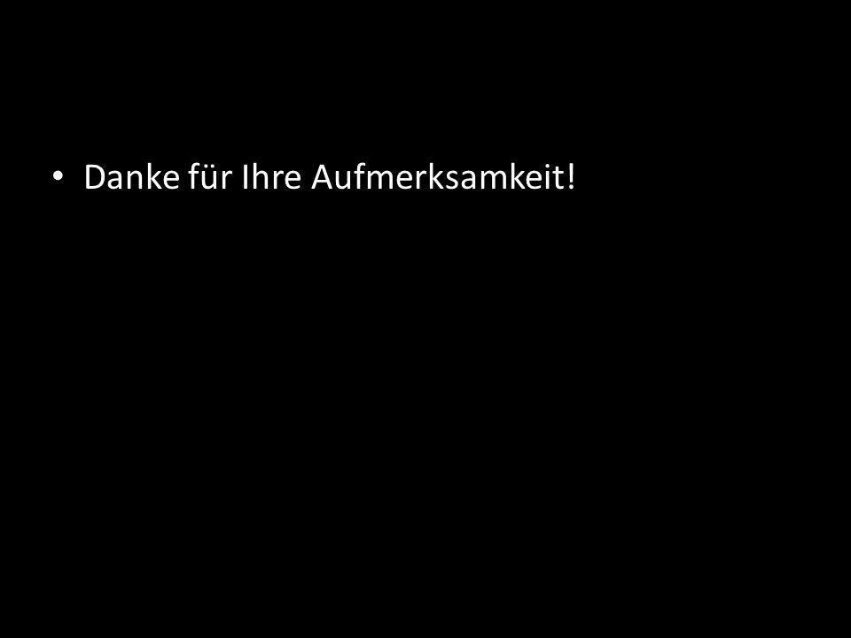 Danke für Ihre Aufmerksamkeit!