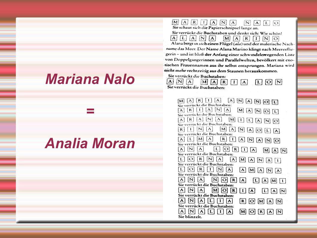 Mariana Nalo = Analia Moran