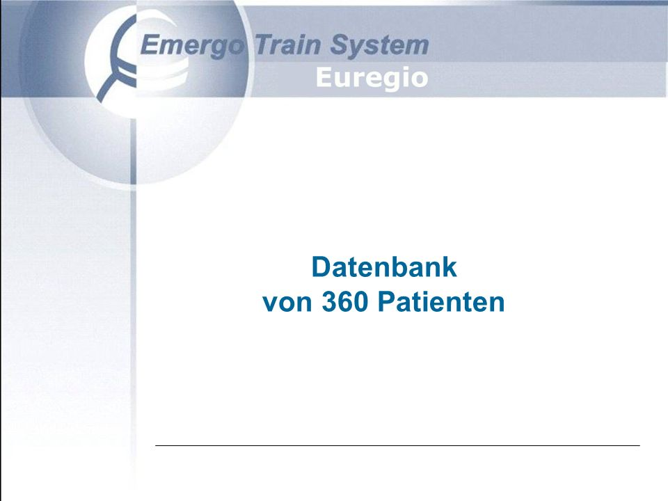 Datenbank von 360 Patienten