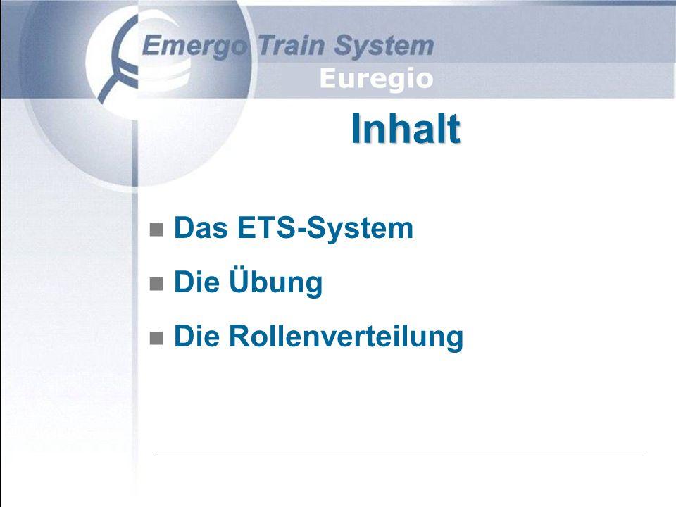 Inhalt n Das ETS-System n Die Übung n Die Rollenverteilung