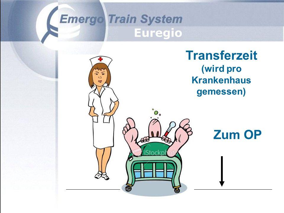 Zum OP Transferzeit (wird pro Krankenhaus gemessen)