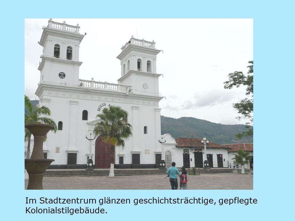 Im Stadtzentrum glänzen geschichtsträchtige, gepflegte Kolonialstilgebäude.