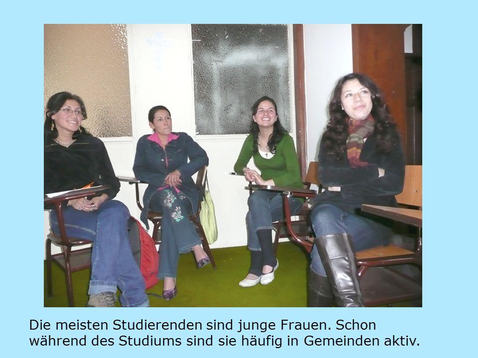 Die meisten Studierenden sind junge Frauen.