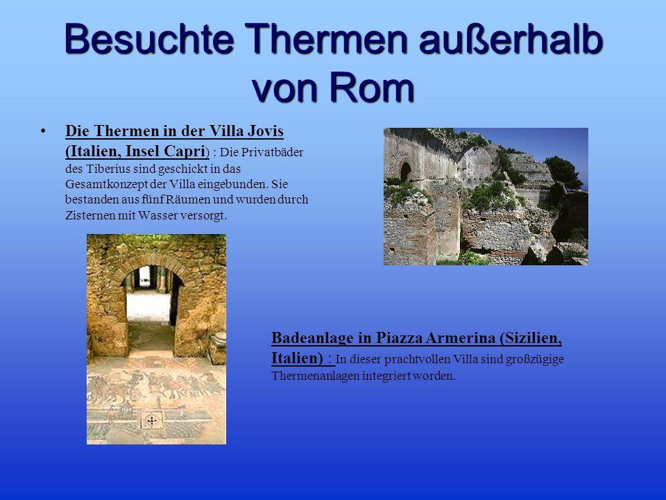 Besuchte Thermen außerhalb von Rom Die Thermen in der Villa Jovis (Italien, Insel Capri ) : Die Privatbäder des Tiberius sind geschickt in das Gesamtkonzept der Villa eingebunden.