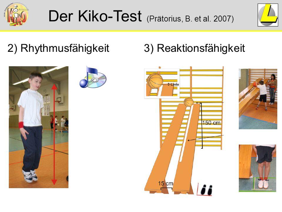 Der Kiko-Test (Prätorius, B. et al. 2007) 2) Rhythmusfähigkeit3) Reaktionsfähigkeit
