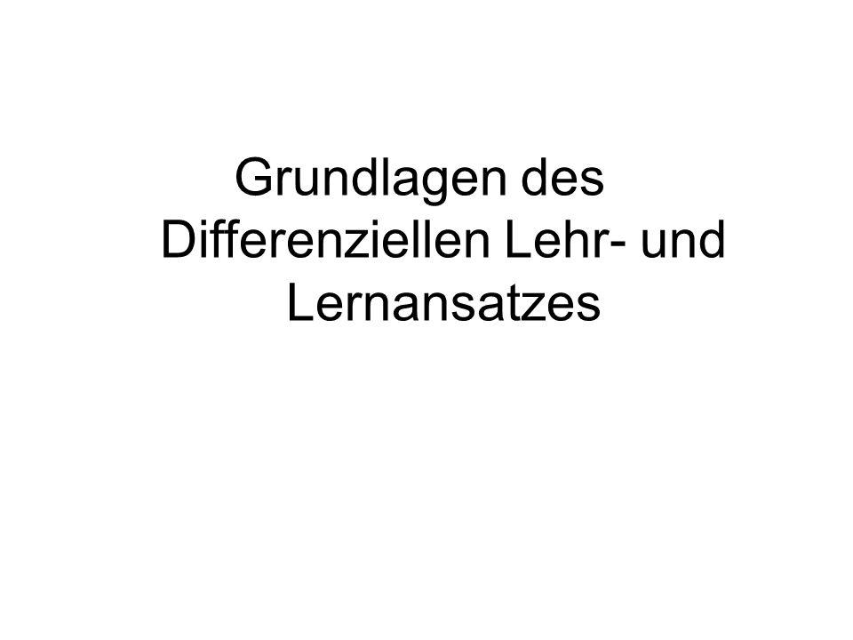 Grundlagen des Differenziellen Lehr- und Lernansatzes