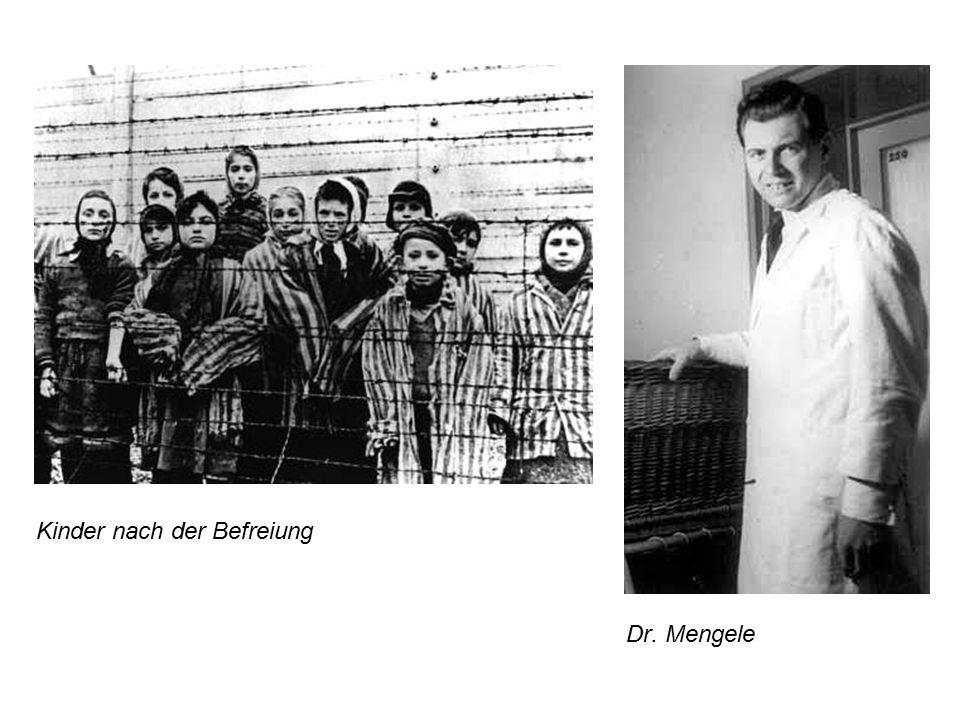 Dr. Mengele Kinder nach der Befreiung
