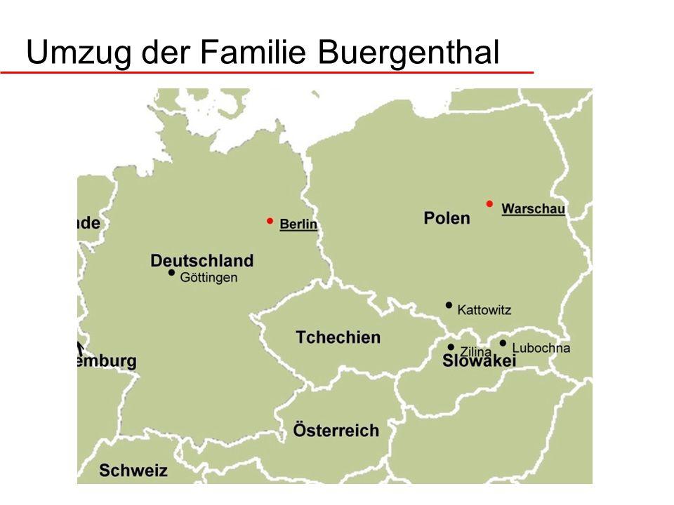 Umzug der Familie Buergenthal