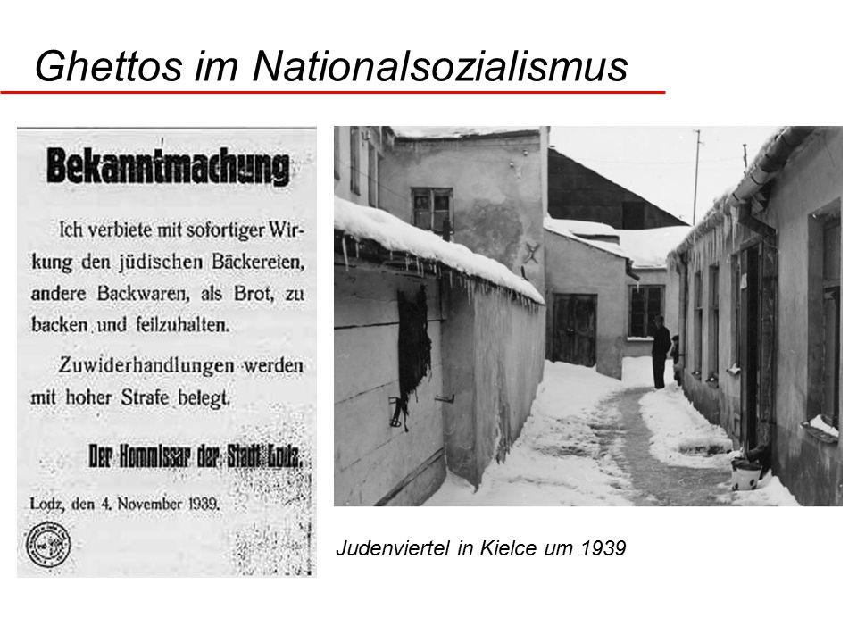 Ghettos im Nationalsozialismus Judenviertel in Kielce um 1939