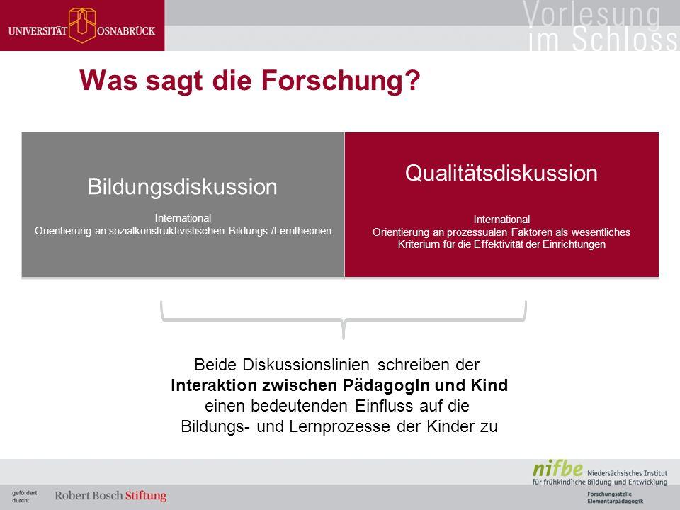 Empirische Anknüpfungspunkte Erziehungsstil- forschung Interaktions- forschung Unipolare AusrichtungIntersubjektive Perspektive