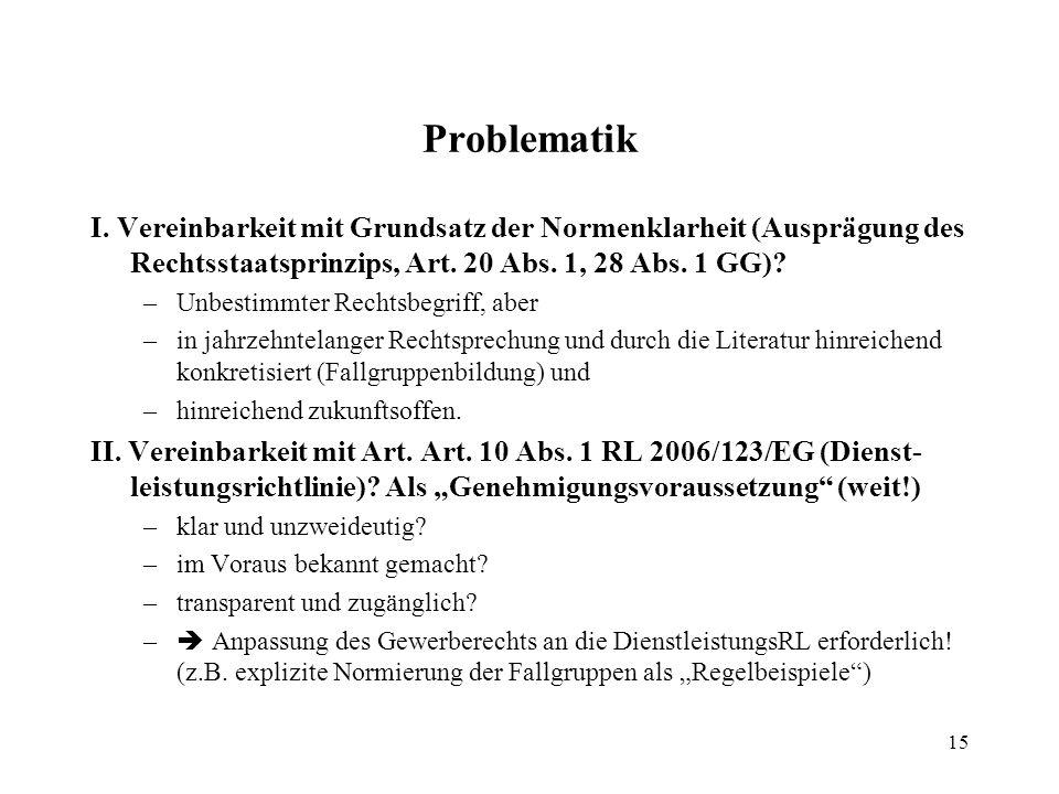 15 Problematik I.
