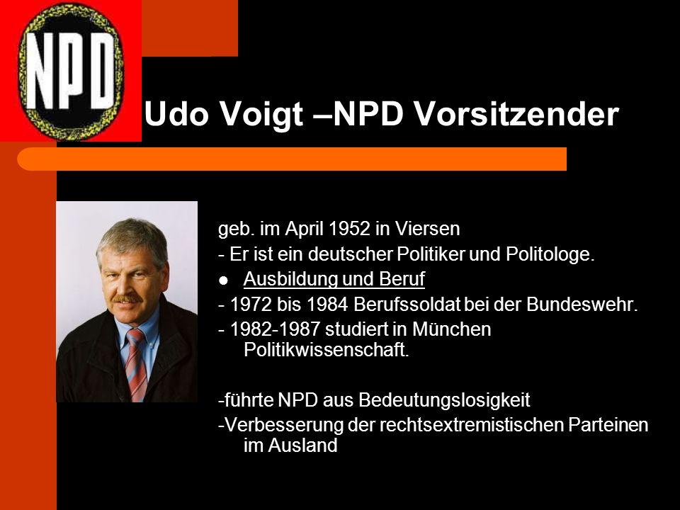 Udo Voigt –NPD Vorsitzender geb.