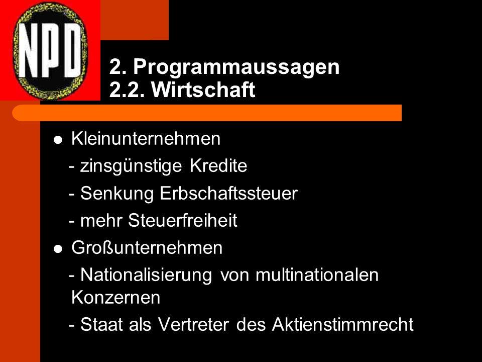 2. Programmaussagen 2.2.