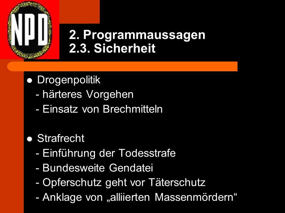 2. Programmaussagen 2.3.