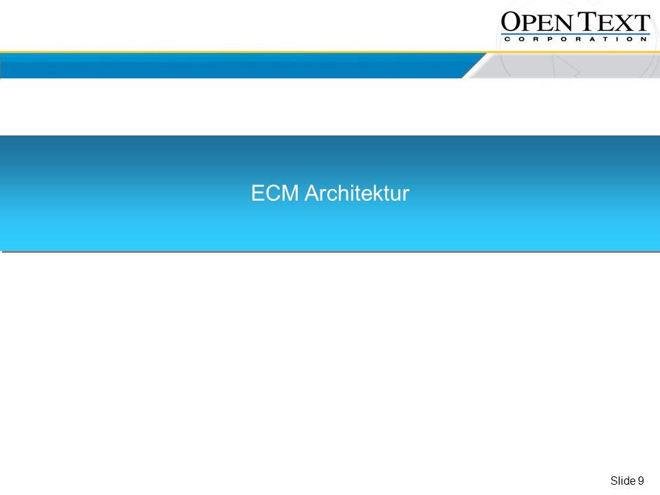 Slide 9 ECM Architektur