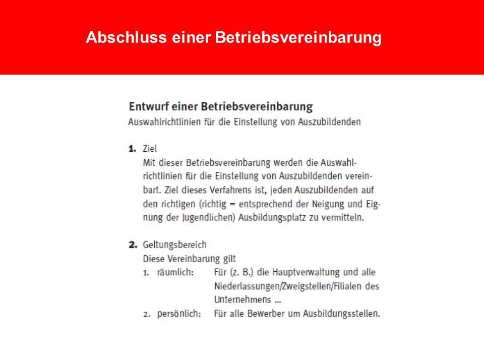 4 Abschluss einer Betriebsvereinbarung