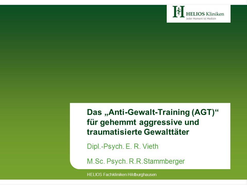 """Das """"Anti-Gewalt-Training (AGT) für gehemmt aggressive und traumatisierte Gewalttäter Dipl.-Psych."""