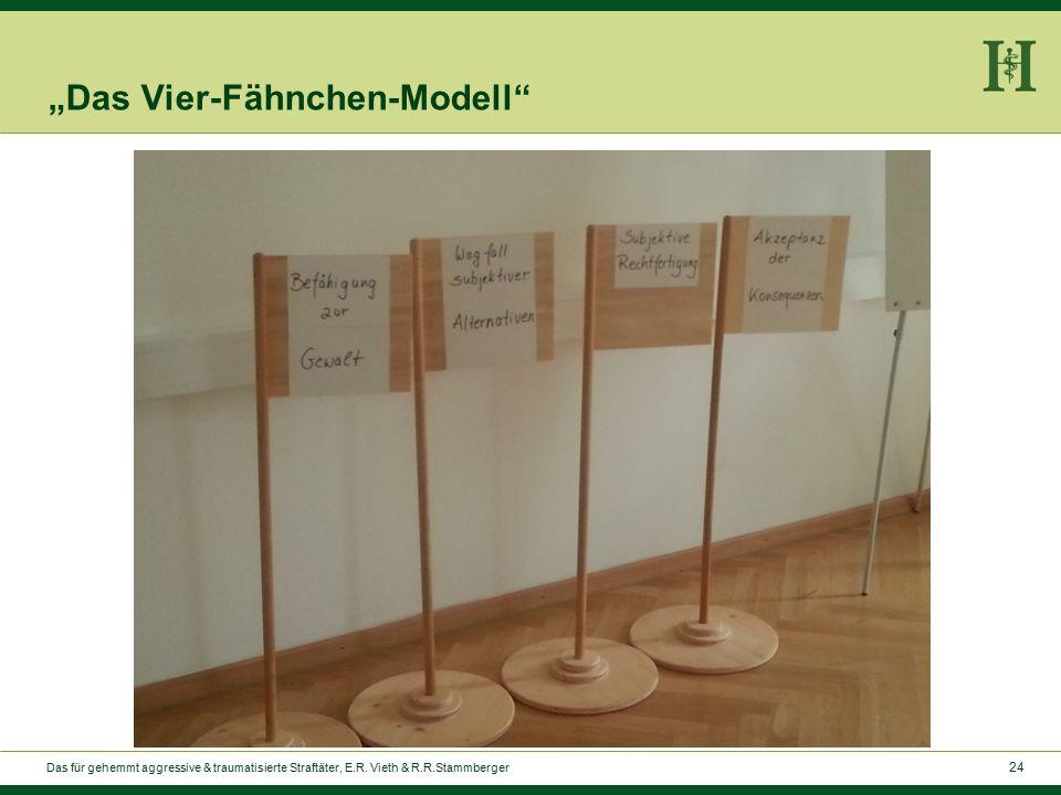 """24 """"Das Vier-Fähnchen-Modell Das für gehemmt aggressive & traumatisierte Straftäter, E.R."""