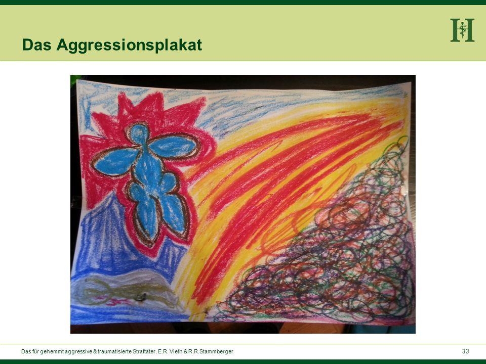 33 Das Aggressionsplakat Das für gehemmt aggressive & traumatisierte Straftäter, E.R.