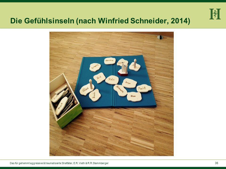 36 Die Gefühlsinseln (nach Winfried Schneider, 2014) Das für gehemmt aggressive & traumatisierte Straftäter, E.R.
