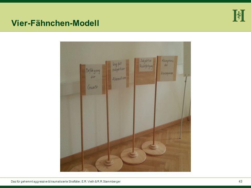 43 Vier-Fähnchen-Modell Das für gehemmt aggressive & traumatisierte Straftäter, E.R.