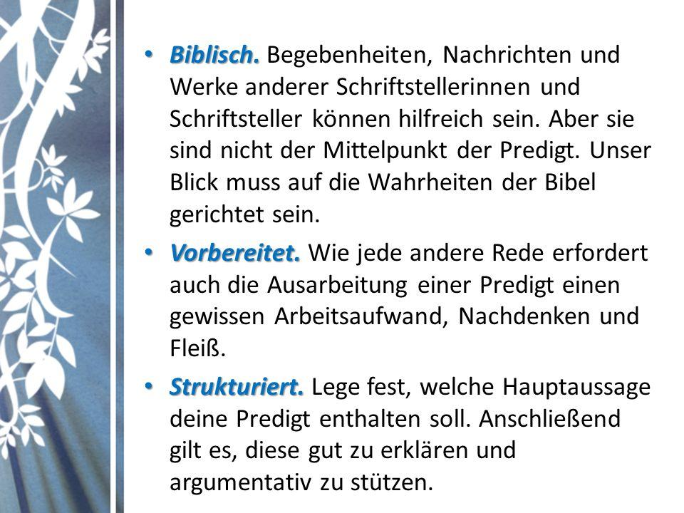 Biblisch. Biblisch.