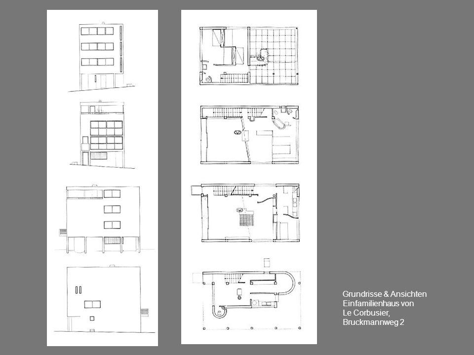 Grundrisse & Ansichten Einfamilienhaus von Le Corbusier, Bruckmannweg 2