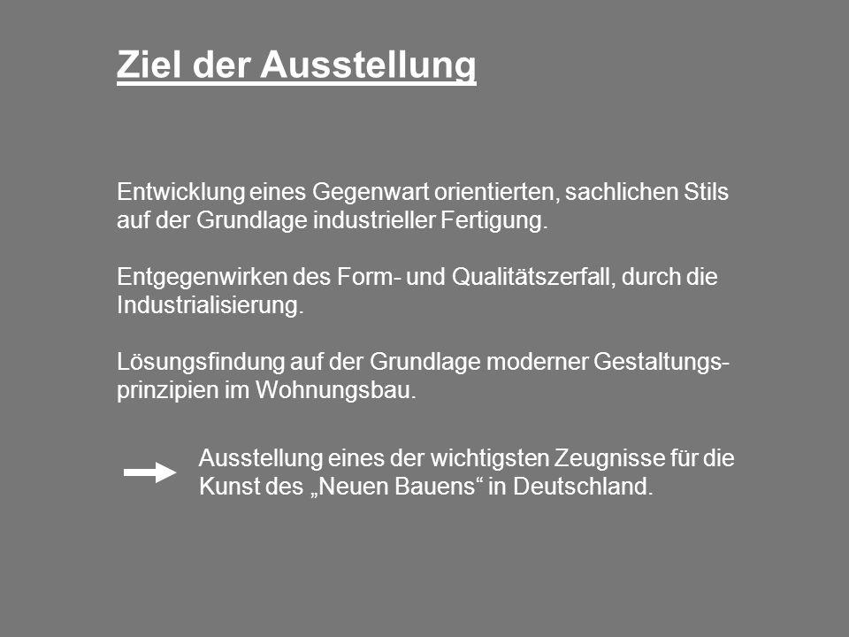 Die Architekten Unter der künstlerischen Leitung von Ludwig Mies van der Rohe haben 17 europäische Architekten, u.a.