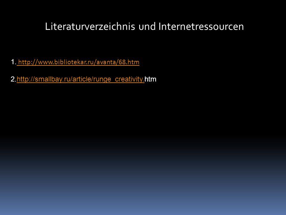 Literaturverzeichnis und Internetressourcen 1.