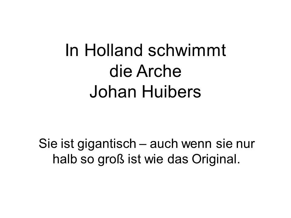 """Sobald die Arche fertig ist, hat Huibers ein weiteres Projekt auf Lager: """"Dann baue ich die Arche in voller Größe – 150 x 25 x 15 m."""