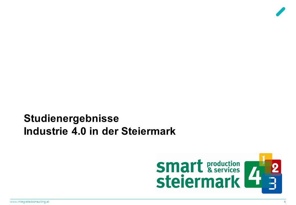 www.integratedconsulting.at 2 Smart Production & Services: Die steirische Antwort auf Industrie 4.0.