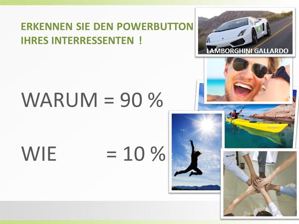 ERKENNEN SIE DEN POWERBUTTON IHRES INTERRESSENTEN ! WARUM = 90 % WIE = 10 % LAMBORGHINI GALLARDO